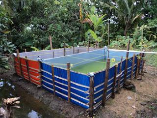 kolam terpal atas tanah