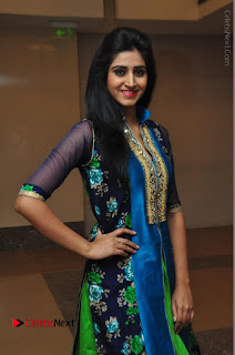 Actress Model Shamili Sounderajan Pos in Desginer Long Dress at Khwaaish Designer Exhibition Curtain Raiser  0022.JPG