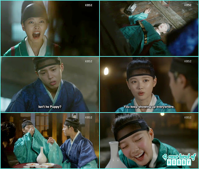 ra on drink with Crown prince not knowing who he is and bite his finger - Love in the Moonlight - Episode 2 Review
