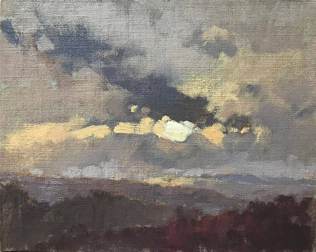 #426 'Winter Skies, Bramshott Common' 8×10, 10×12″