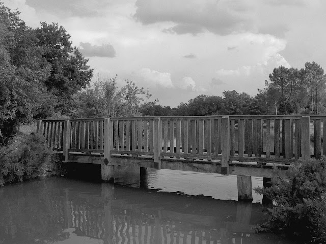 Pipriac étang des quatre vents le petit pont de bois