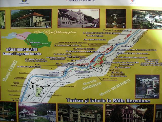 Historic imperial center in Baile Herculane.