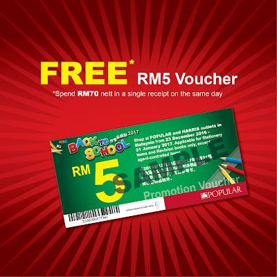 Popular Book Free RM5 Cash Voucher