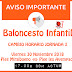 BALONCESTO INFANTIL: Jornada 3 Cambio horarios