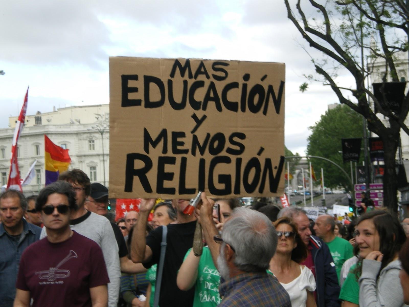 mas educacion y menos religion