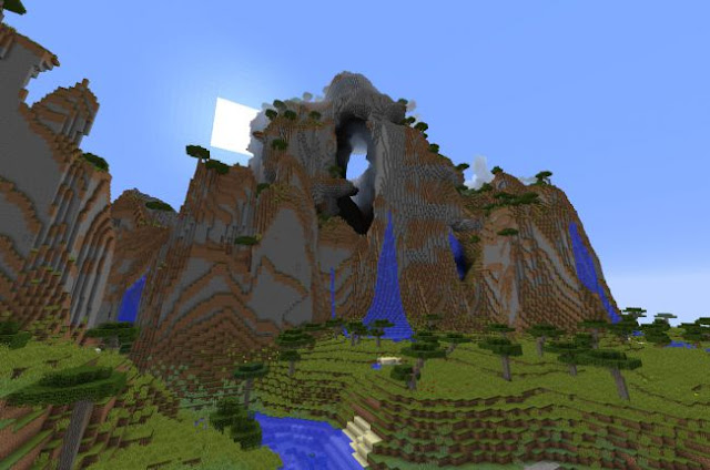 Gunung berlubang, sarang Zombie, 7 Seed Minecraft Terbaik, Keren, dan Menarik