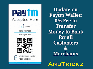 (Live) Paytm – Transfer Money to Bank account at 0% Charges (All Users)