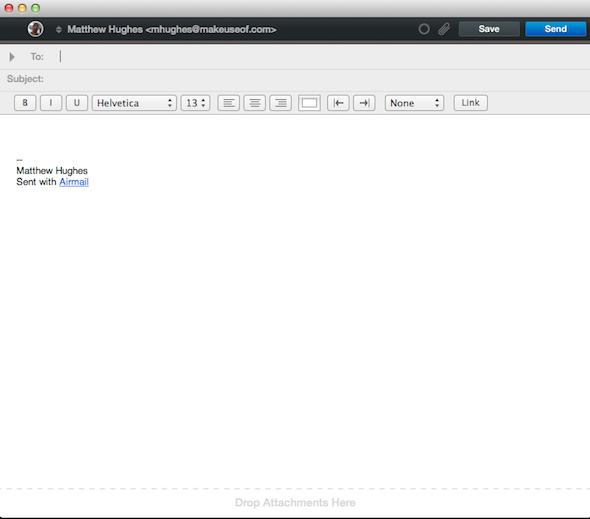 Correo Electrónico AIRMAIL para Mac OS X