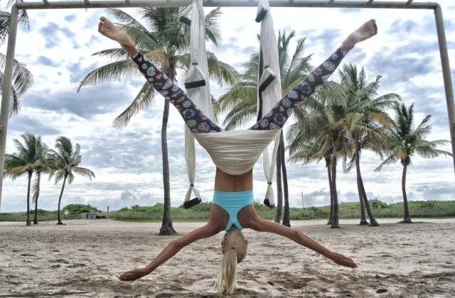 alternative ways workout outdoor exercise aerial yoga beach pilates frugal fitness