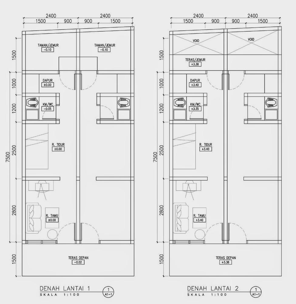 107 Denah Rumah Minimalis Memanjang Gambar Desain Rumah Minimalis