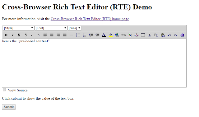 Cross-Browser Rich Text Editor (RTE)
