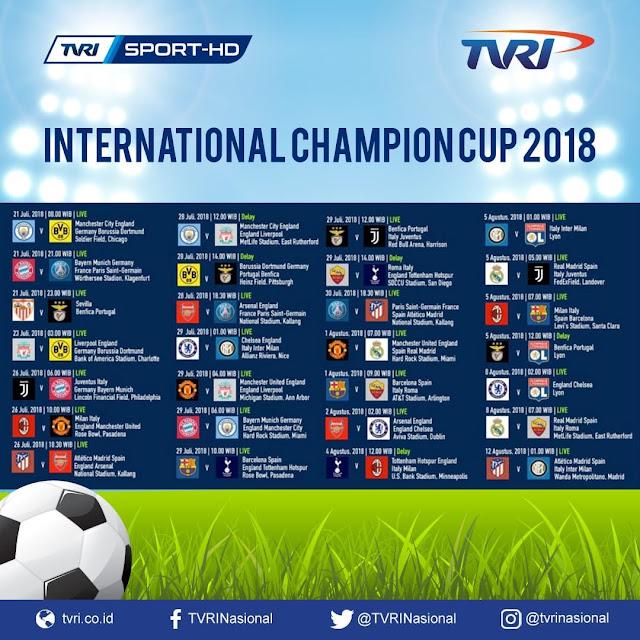 Jadwal Lengkap ICC 2018 Live TVRI
