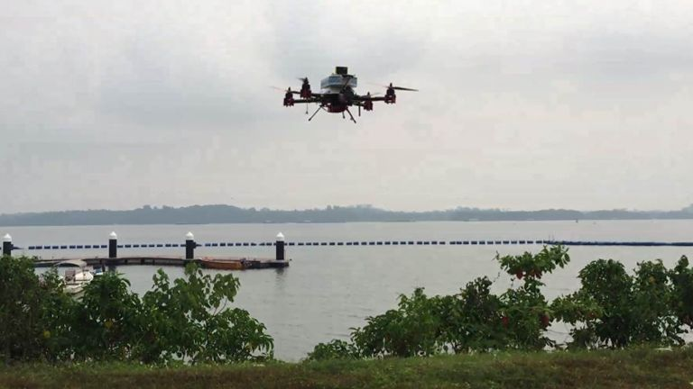 A SingPost drone successfully makes a 2km mail run from the mainland to Pulau Ubin