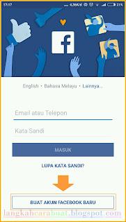 Mendaftar Facebook Lewat HP