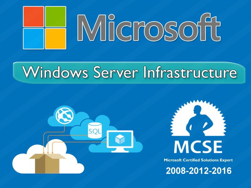 Microsoft Windows Server Infrastructure 2016 Online Training
