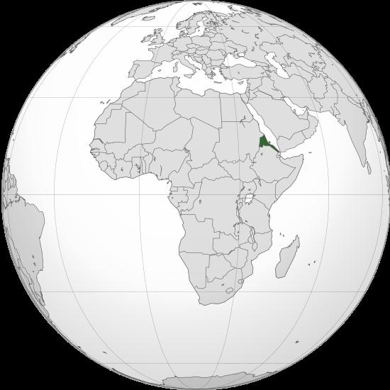 Letak negara Eritrea