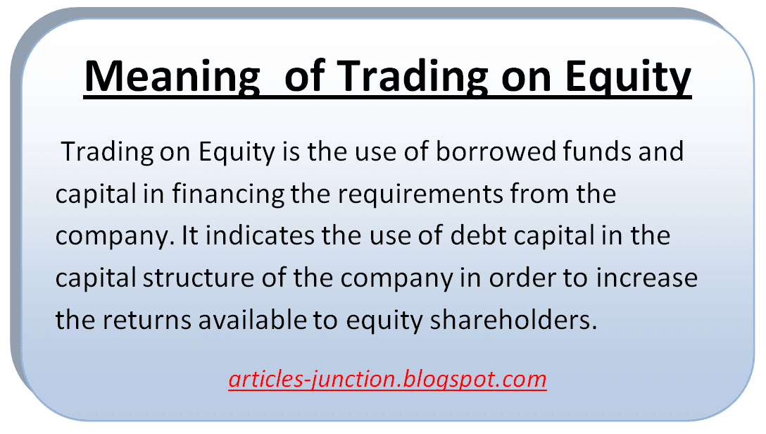Equities Definition