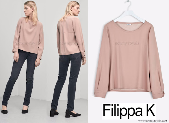 Crown Princess Victoria wore Filippa K Almond Crepe Blouse