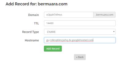 mengaktifkan domain tld