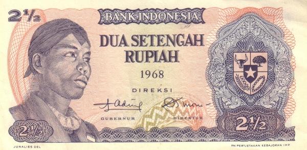 dua setengah rupiah 1968 depan