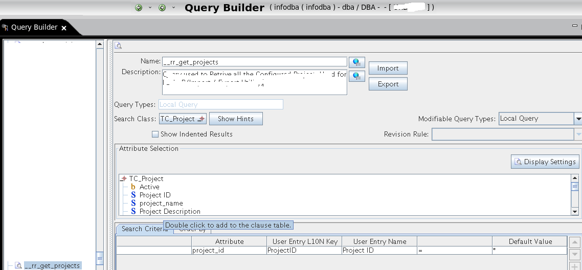 Teamcenter Open Gate: SOA Serive client: Assign Project to