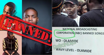 vmv 33 - ENTERTAINMENT: NBC refutes reports that it banned Olamide, 9ice & Davido's songs
