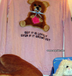 teddy bear nightdress engrish logo fail