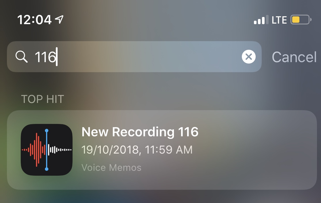 Voice memo not saving in iOS 12 on iPhone X/8/7/6