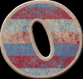 Alfabeto con Franjas Azules y Corintas.