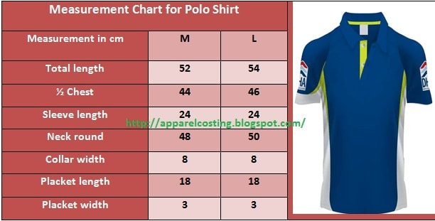 Fabric consumption method for polo shirt in apparel industry