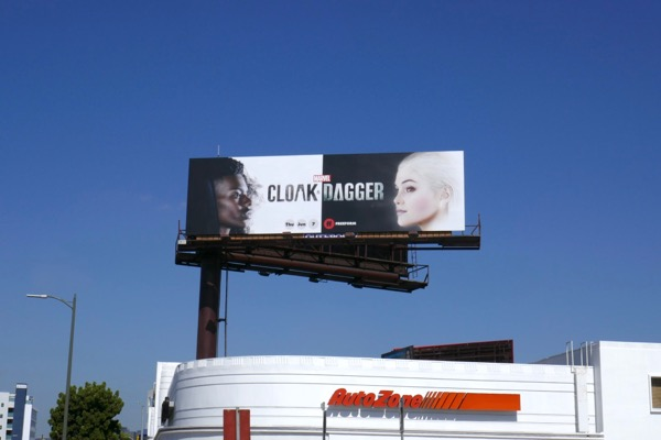Cloak Dagger freeform series billboard