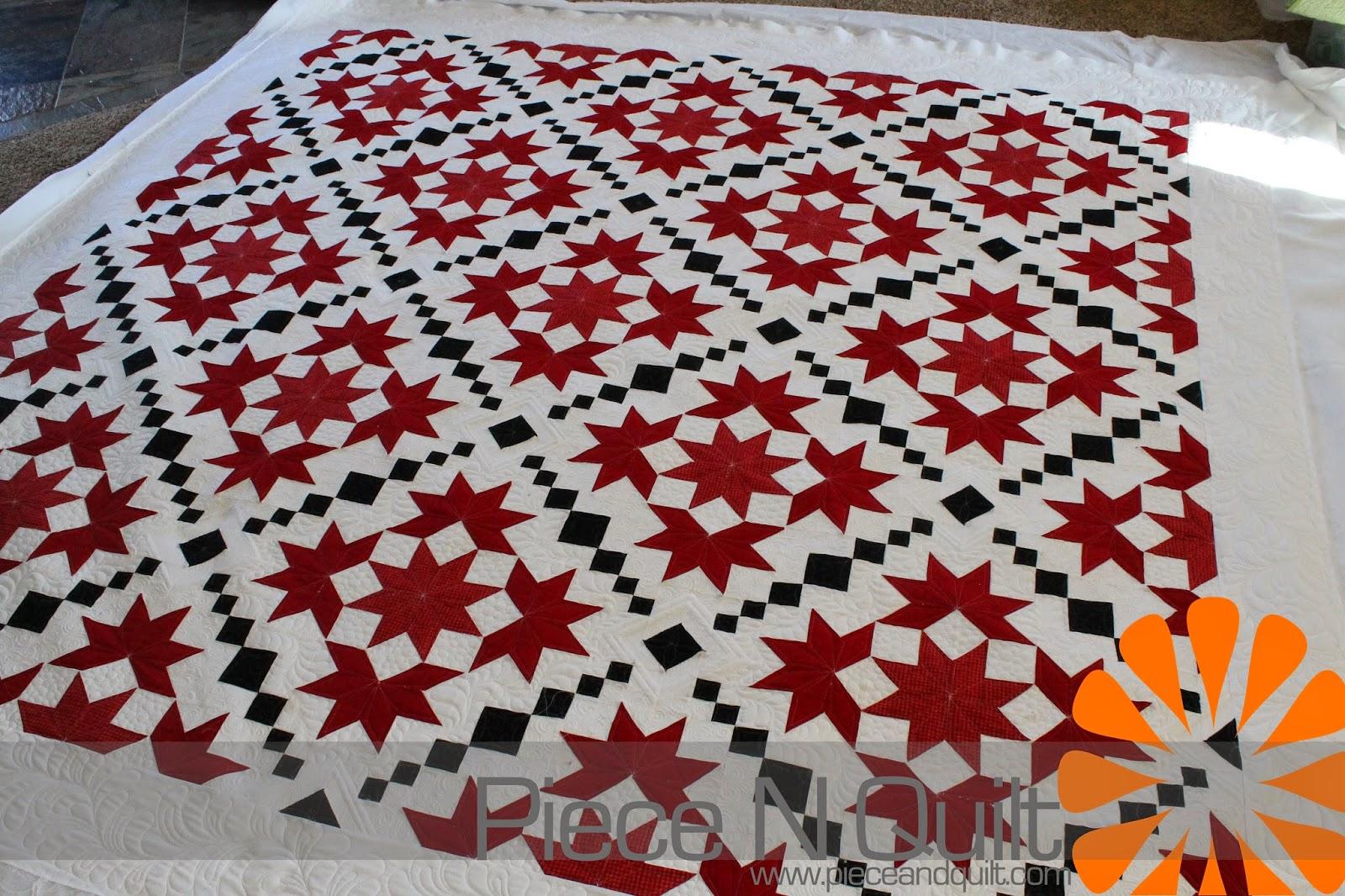 Piece N Quilt Custom Machine Quilting Red White
