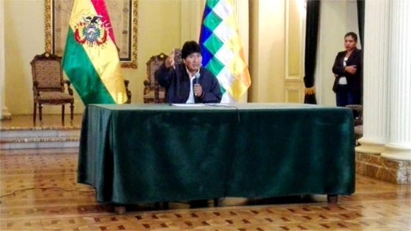 Evo Morales anuncia 4 proyectos para dotar de agua a La Paz