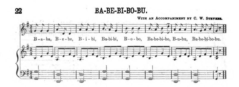 Music for swinging the alphabet