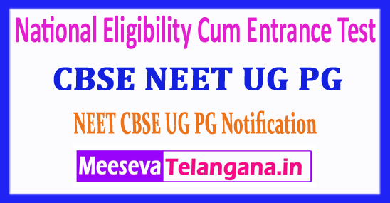 NEET 2018 National Eligibility Cum Entrance Test 2018 Application Form Notification Admit Card Download