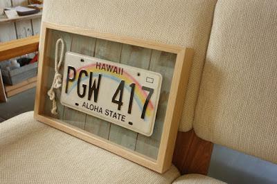 ハワイの車のナンバープレートを飾る額縁・majakka