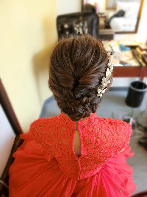 盤髮造型|線條感編髮|編髮造型