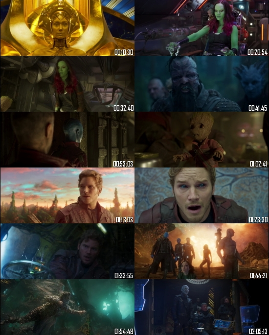 Guardians Of The Galaxy Vol 2 (2017) BRRip 720p 480p Dual Audio Hindi English Full Movie Download