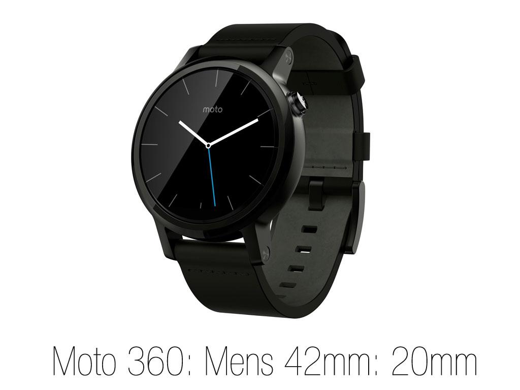 Moto 360 Mens size 42mm : 20mm