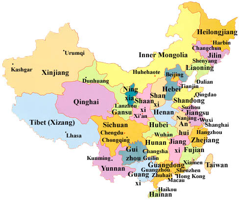 Agile image for printable map of china