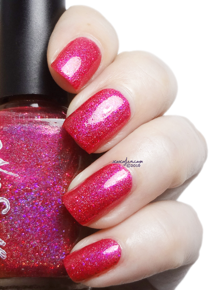 xoxoJen's swatch of NVR Enuff Raspberry Dreams