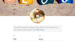 Thay đổi tên người dùng trên G+ cho blogspot