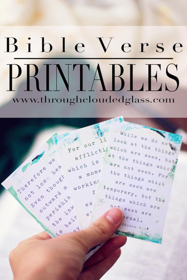 Printable Bible Verse Cards | Why Moms Should Memorize Bible Verses | Need some encouragement to memorize more Bible verses?  This site has encouragement plus PRINTABLE BIBLE VERSE CARDS to get you started!