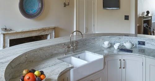 Fantasy Of River White Granite Countertops And Interiors