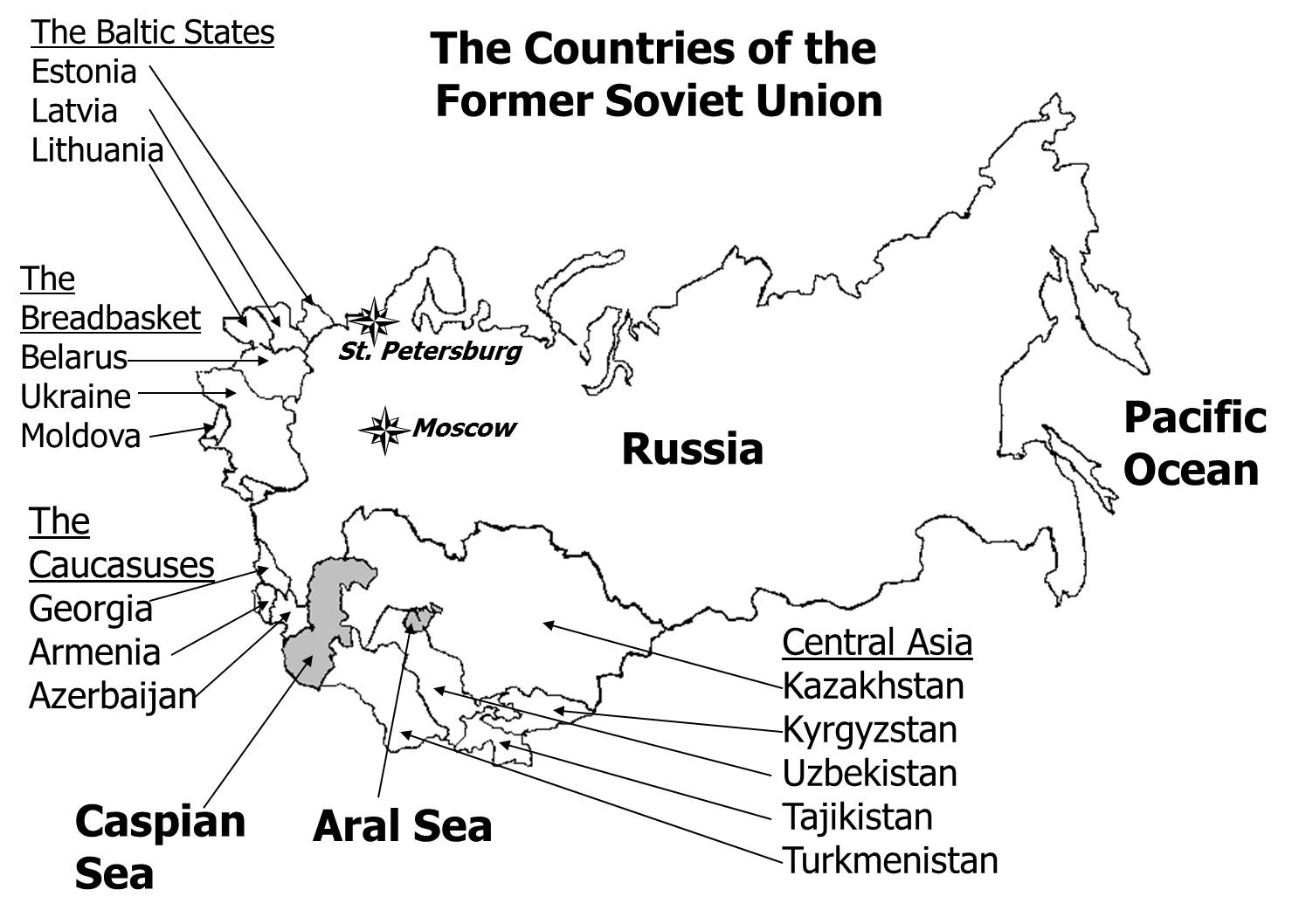 Russia And Central Asia Map Quiz.Russia Central Asia Map Quiz