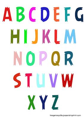 Letras de angry birds de colores