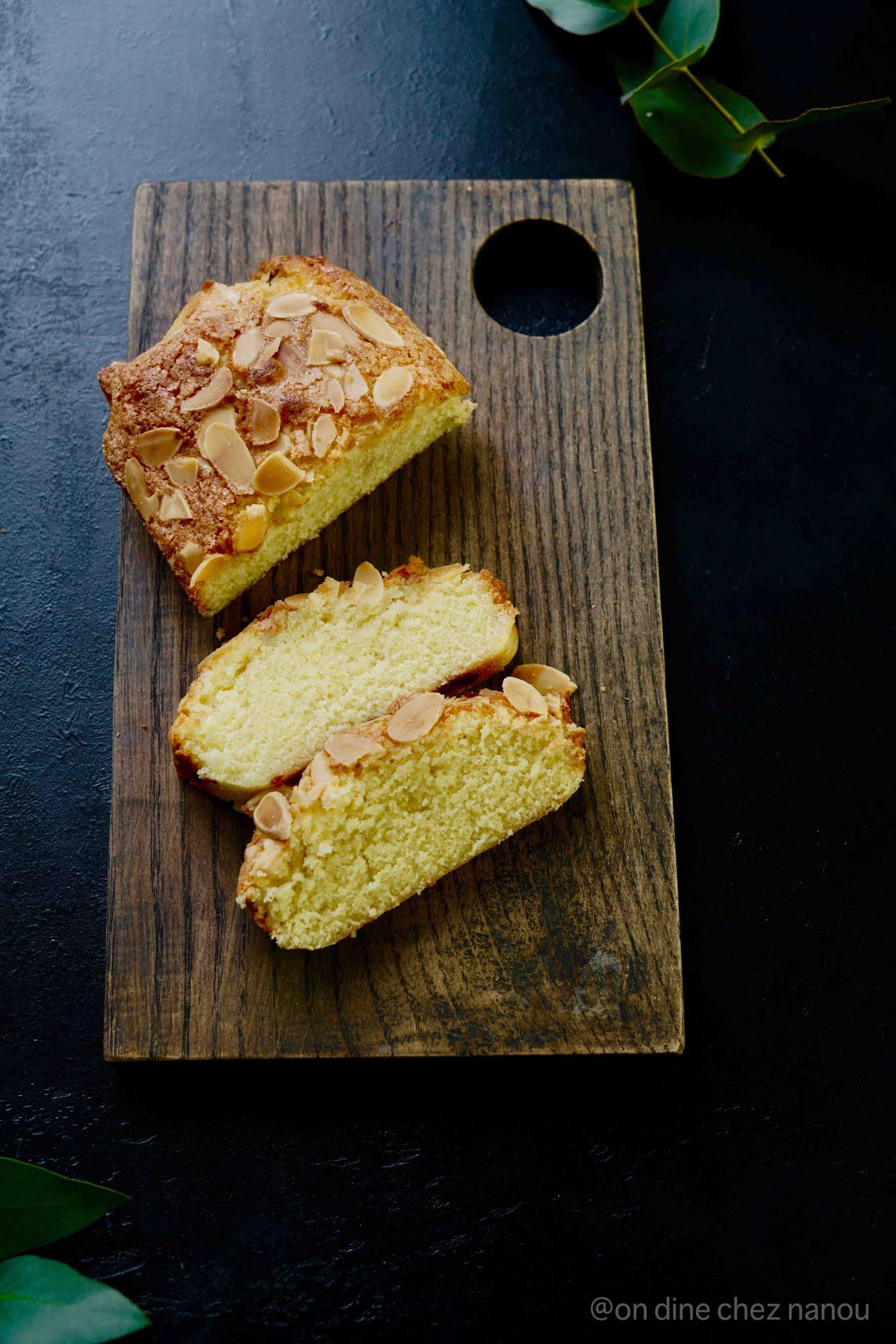 pâte d'amandes , cake danois , crème au chocolat , lait d'amandes , dessert facile