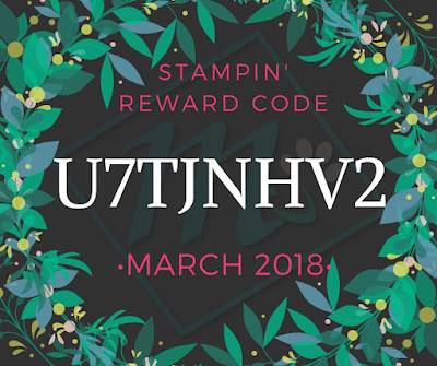 Stampin' Reward Code from Mitosu Crafts UK Online Shop