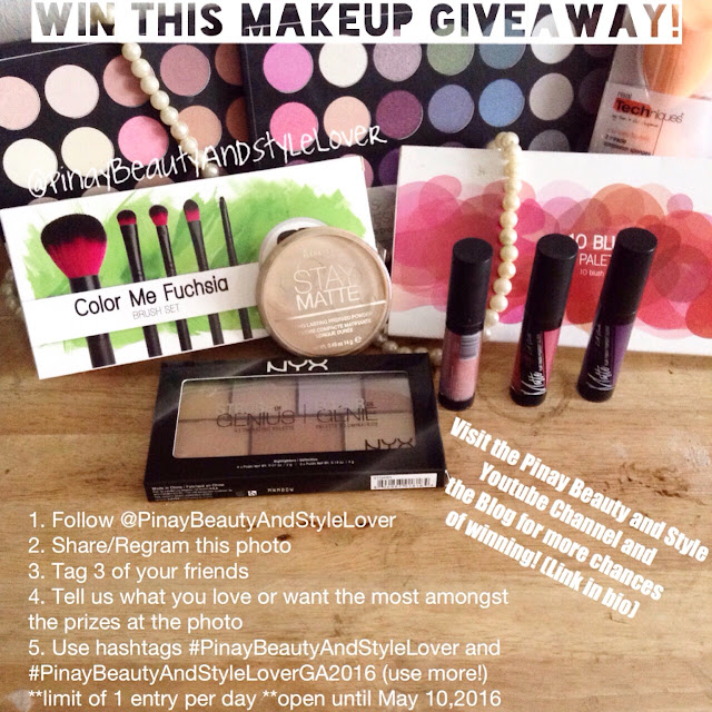 Pinay Beauty And Style Lover Giveaway