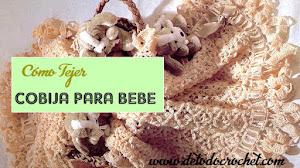 Mantilla para bebé tejida al crochet - explicación en Español